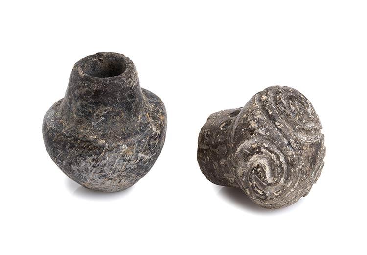 Two Cycladic Miniature Pottery ...