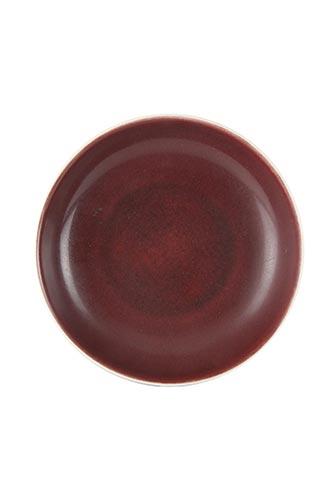 A RED-GLAZED DISHChina, Qing ...