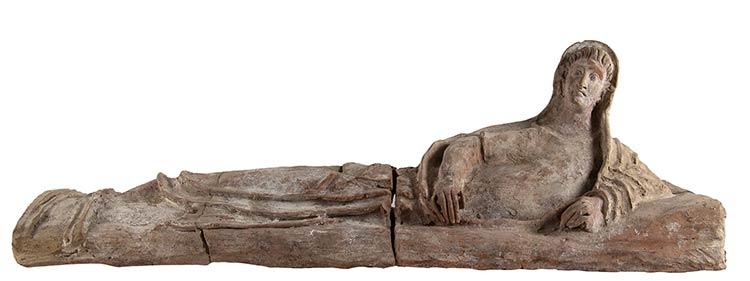 Coperchio di sarcofago fittile ...