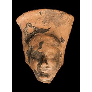 Head of a terracotta kore in ...