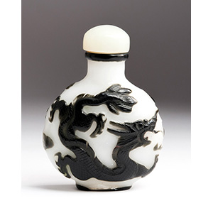 Overlay glass snuff bottle; XX ...