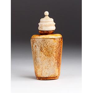 Carved bone snuff bottle; XX ...