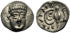 Campania, Obolo, Phistelia, c. 325-275 a.C.; ...