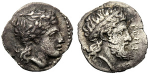 Sicilia, Litra, Herbessos, 344-339 a.C.; AR ...