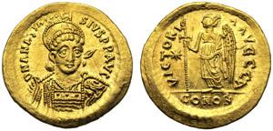 Anastasio I (491-518), Solido, ...