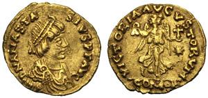 Anastasio I (491-518), Tremisse, ...