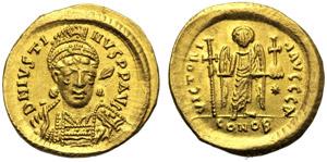 Giustiniano I (527-565), Solido, ...