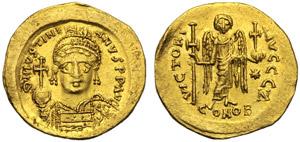 Giustiniano I (527-564), Solido, ...