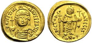 Giustiniano I (527-564), Solido, Ravenna, c. ...