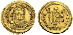 Giustiniano I (527-565), Solido, Roma, ...
