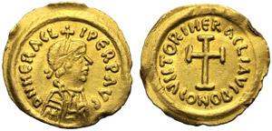 Eraclio (610-641), Tremisse, Ravenna, c. ...