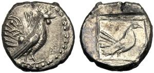 Sicilia, Dracma, Himera, c. 500 a.C.; AR (g ...