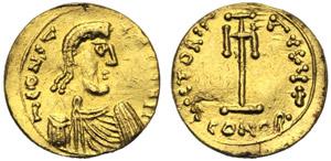 Costante II (641-668), Tremisse, Siracusa, ...