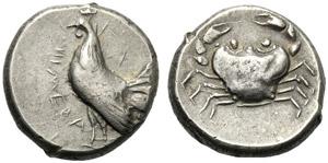 Sicilia, Didramma, Himera, c. 483-472 a.C.; ...