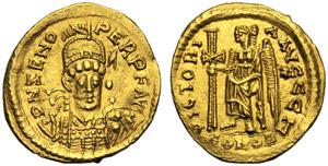 Ostrogoti, Odoacre (476-493), Solido battuto ...