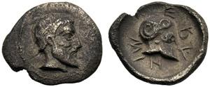 Sicilia, Litra, Himera, c. 479-409 a.C.; AR ...