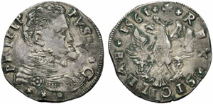 Messina, Filippo II (1556-1598), 4 tarì, ...
