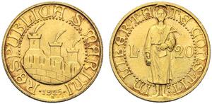 San Marino, Repubblica (1868-1938),  20 ...