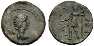 Sicilia, Ietas, Asse (?), c. 100-30 a.C.; AE ...