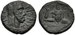 Sicilia, Asse, Ietas, c. 10-20 d.C.; AE (g ...