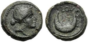 Apulia, Uncia, Luceria, c. 211 a.C.; AE (g ...