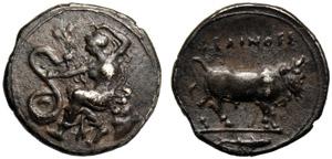 Sicilia, Litra, Selinunte, c. 420-410 a.C.; ...