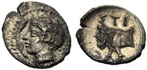 Sicilia, Emilitra, Stiela, c. 420-415 a.C.; ...