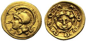 Sicilia, Dionigi I (405-367), Didramma o 10 ...