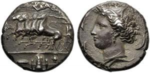 Sicilia, Dionigi I (405-367), Decadramma, ...