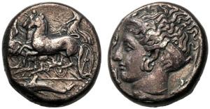 Sicilia, Dionigi I (405-367), Tetradramma, ...