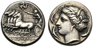 Sicilia, Agatocle (317-289), Tetradramma, ...