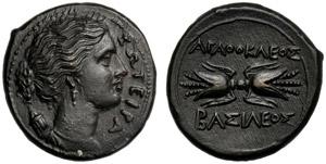 Sicilia, Agatocle (317-289), Bronzo, ...