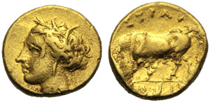 Sicilia, Agatocle (317-289), Pentadramma, ...