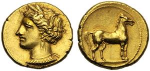 Dominio Punico, Statere, Cartagine, c. ...
