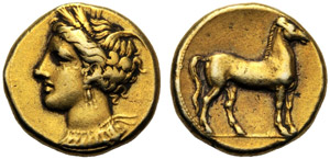 Dominio Punico, Statere, Cartagine (?), c. ...