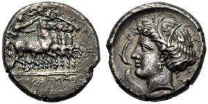 Dominio Punico, Tetradramma, Lilibeo (?), c. ...