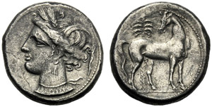 Dominio Punico, Shekel, Cartagine, c. 300 ...