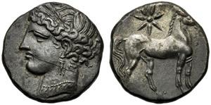 Dominio Punico, Doppio Shekel, Cartagine, c. ...