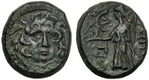 Macedonia, Bronzo, Anfipoli, I sec. a.C.; AE ...