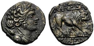 Gallia, Dracma, Marsiglia, c. 121-82 a.C.; ...