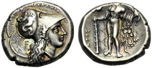 Lucania, Statere, Eraclea, c. 281-278 a.C.; ...
