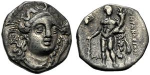 Lucania, Eraclea, Diobolo, c. 281-278 a.C.; ...