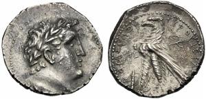 Giudea, Tetradramma, c. 120-30 a.C.; AR (g ...