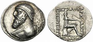 Re della Parthia, Mitridate II (121-99), ...