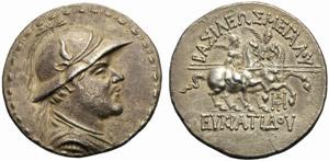 Re della Bactria, Eucratide I (170-145), ...