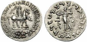 Re Indo-Sciti della Bactria, Azes ...