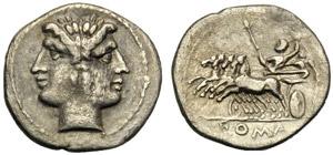 Emissione anonima, Dracma, Roma, 225-214 ...