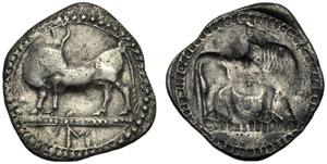 Lucania, Dracma, Sibari, c. 550-510 a.C.; AR ...
