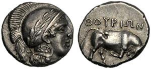 Lucania, Statere, Thuri, c. 443-440 a.C.; AR ...