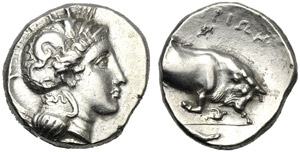 Lucania, Statere, Thuri, c. 350-300 a.C.; AR ...